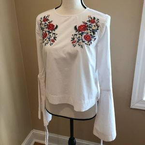 Printed flower shirt
